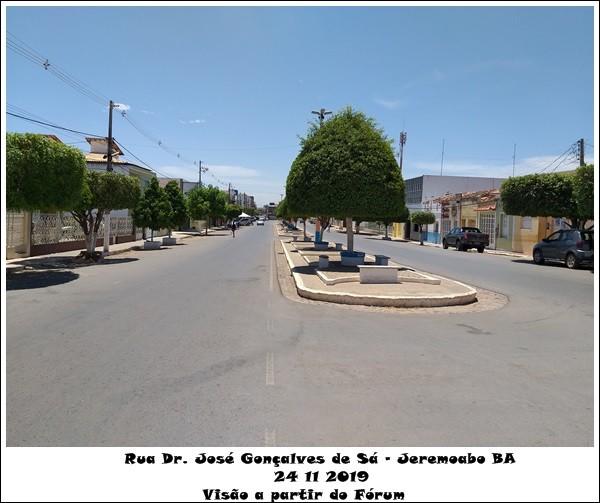 Jeremoabo BA: fotos Avenida Dr. José Gonçalves de Sá