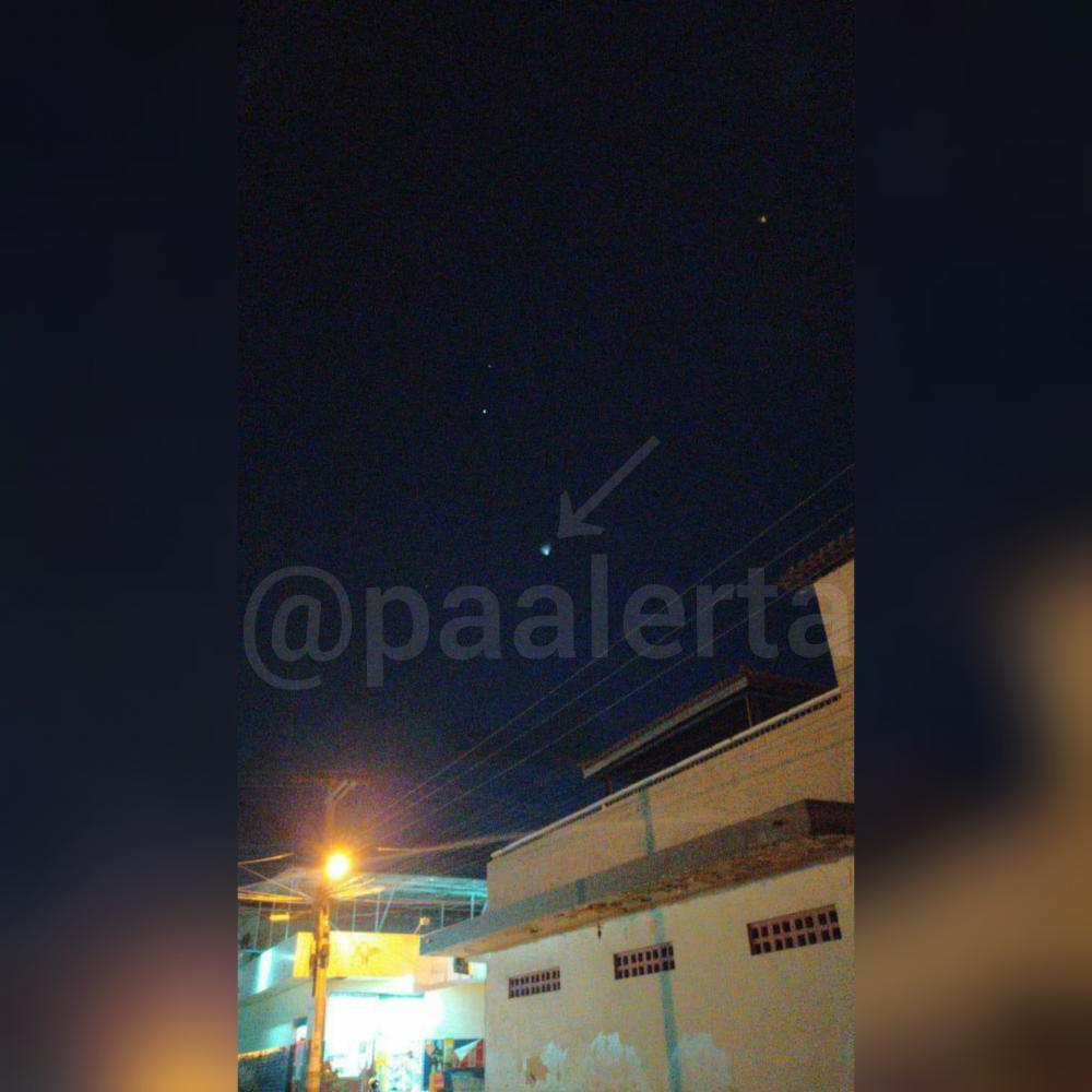 Ovnis? Luz misteriosa é vista no céu de Jeremoabo BA, Paulo Afonso BA e outras cidades