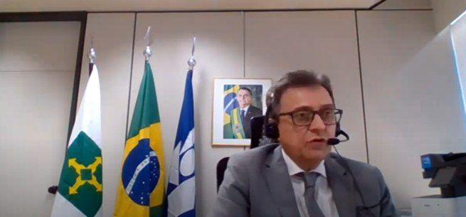 O secretário da Receita, José Tostes Neto, durante coletiva sobre o IR 2021 - (Foto: Reprodução)