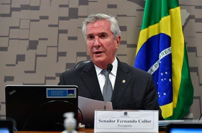 Fernando Collor defende turismo e reformas - (Foto: Leopoldo Silva/ Agência Senado 24-02-2021)