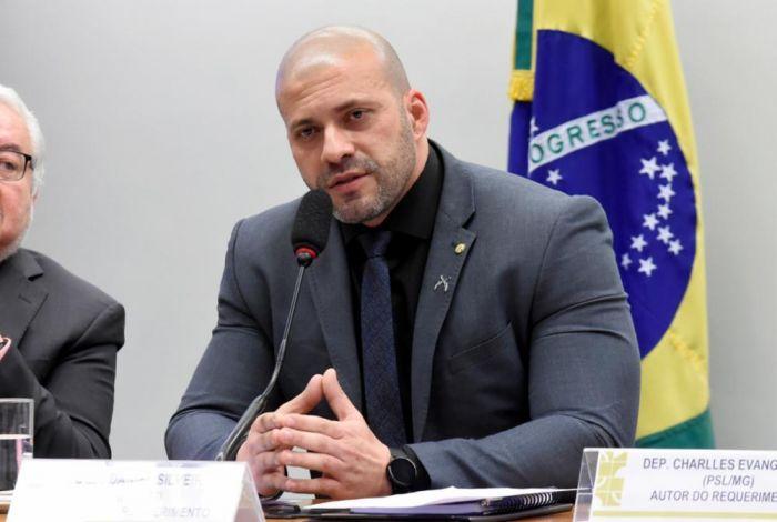O deputado Daniel Silveira (PSL-RJ), preso na semana passada - (Foto: Reila Maria/Câmara dos Deputados)