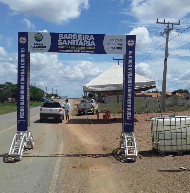 Barreira sanitária povoado Malhada Nova