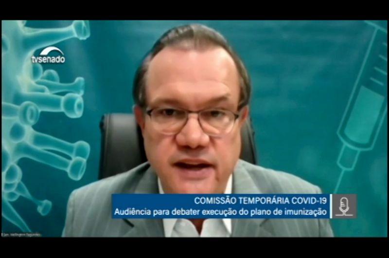 Entre os resultados da CTCOVID-19, relator Wellington Fagundes citou o projeto que trata da adaptação da indústria de sau?de animal para a produção de vacinas humanas - Reprodução/Tv Senado