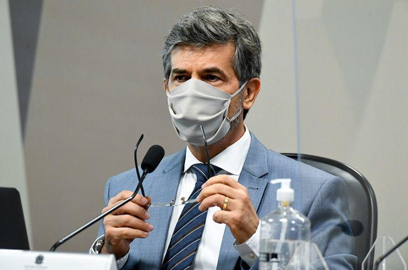 Nelson Teich, que foi ministro da Saúde no governo Bolsonaro por menos de um mês, prestou depoimento na CPI da Pandemia nesta quarta - Jefferson Rudy/Agência Senado