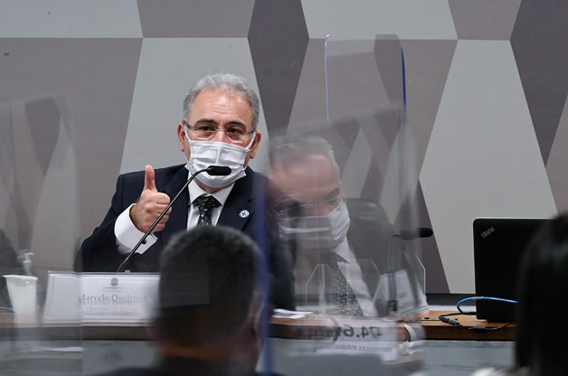 Ministro da Saúde foi questionado pelos senadores por mais de oito horas - Edilson Rodrigues/Agência Senado