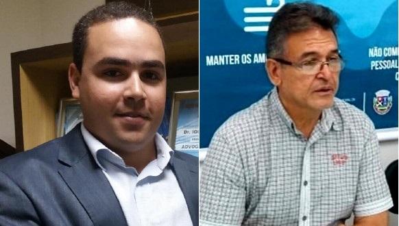 Igor Montalvão (PGM) e Ghiarone Garibaldi (Sec Saúde). Foto: Divulgação.
