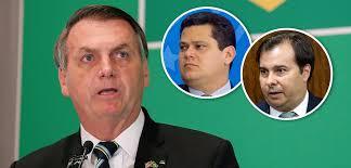 Bolsonaro e os Presidentes da Câmara e Senado