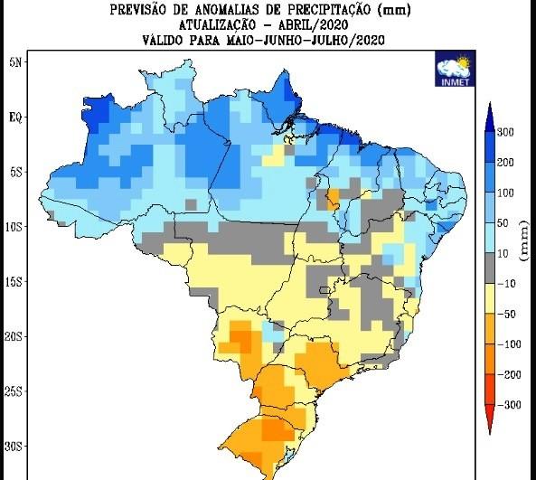 Inmet indica chuvas acima da média para Nordeste neste inverno