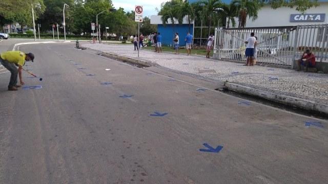 Pintura das ruas pela Prefeitura