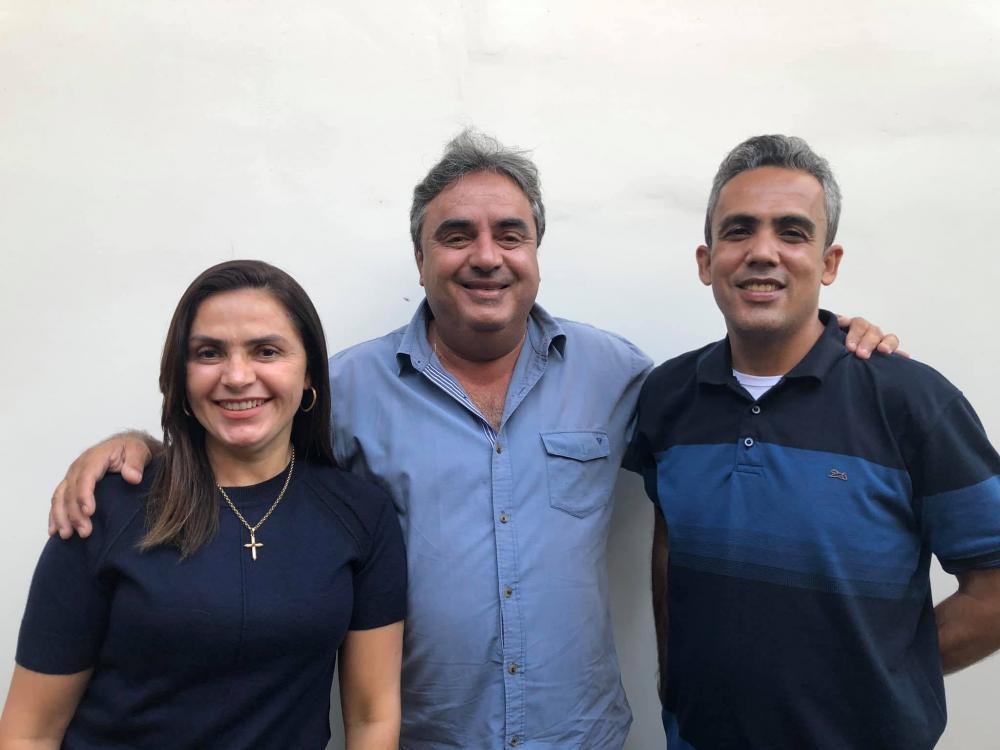 Anabel, Flávio e Tista (Líder Politico). Foto: Shirley